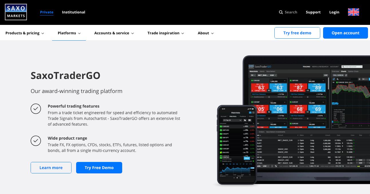 Saxo Markets UK Platform Review