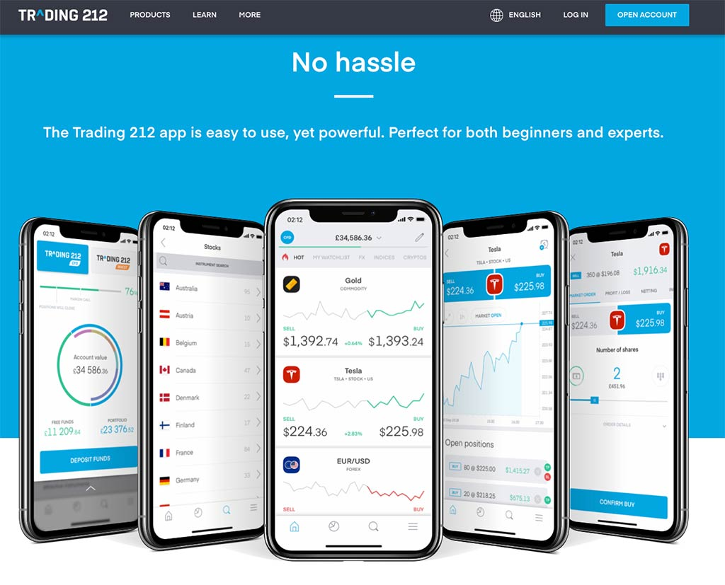Trading 212 Mobile App Review