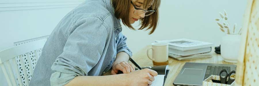 Self-Employed Woman Working