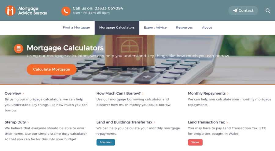 Mortgage Advisor Bureau Calculators