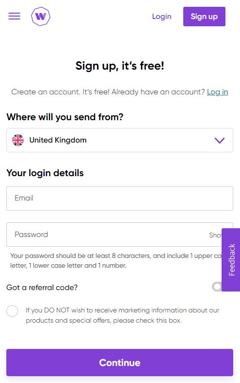WorldRemit Account Opening